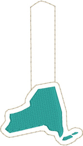 Tiny New York snap tab In The Hoop embroidery design
