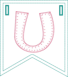 I Heart U Applique Banner In the Hoop Project for 5x7 Hoops