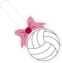Volleyball with Bow Snap Tab