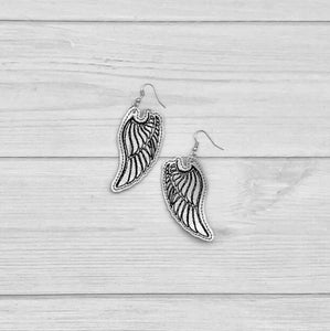 Tattoo Style Wing Earrings ITH embroidery design