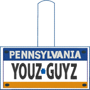 Pennsylvania Plate Embroidery Snap Tab
