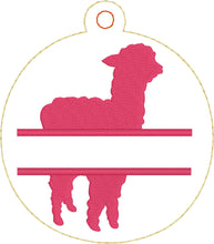Alpaca Christmas Ornament for 4x4 hoops
