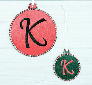 BLANK Satin Stitched Border  Ornament for 4x4 hoops