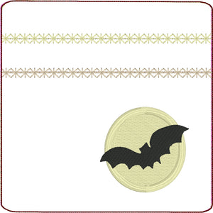 Bat Across the Harvest Moon Zipper Pouch 4x4