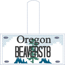 Oregon Plate Embroidery Snap Tab