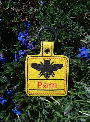 Bee Personalized Tag for 4x4 hoops