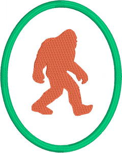 Bigfoot Patch embroidery design