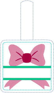 Personalized Bow Bag Tag for 4x4 hoops