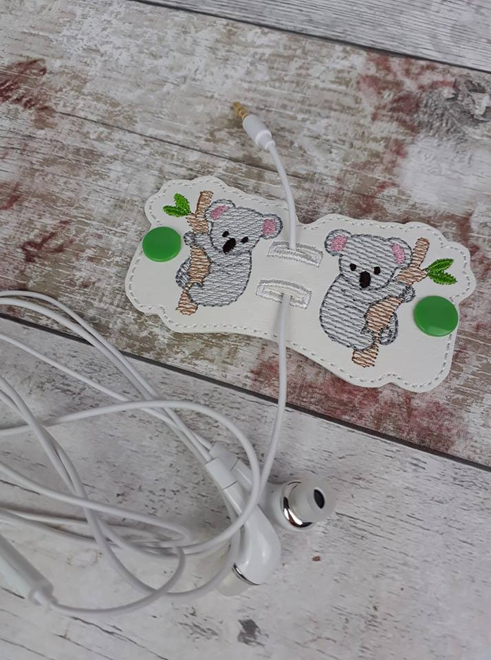 Koala Bears Stay On Cord Wrap ITH Snap Project 4x4 and 5x7