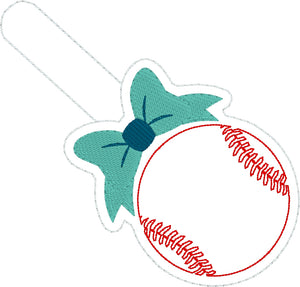 Baseball/Softball with Bow Snap Tab