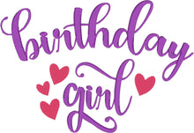 Birthday Girl 5x7 Embroidery Design