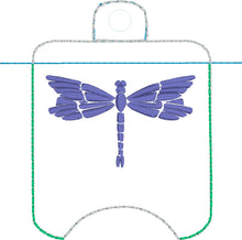 Dragonfly Hand Sanitizer Holder Case BUNDLE SET Snap Tab and Eyelet Versions for 1 and 2 ounce sizes