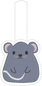 Rat or Mouse snap tab embroidery design
