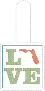 Florida Love Snap Tab 4x4 and 5x7