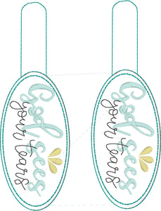 God Sees Your Tears Snap Tab and Eyelet Tag SET