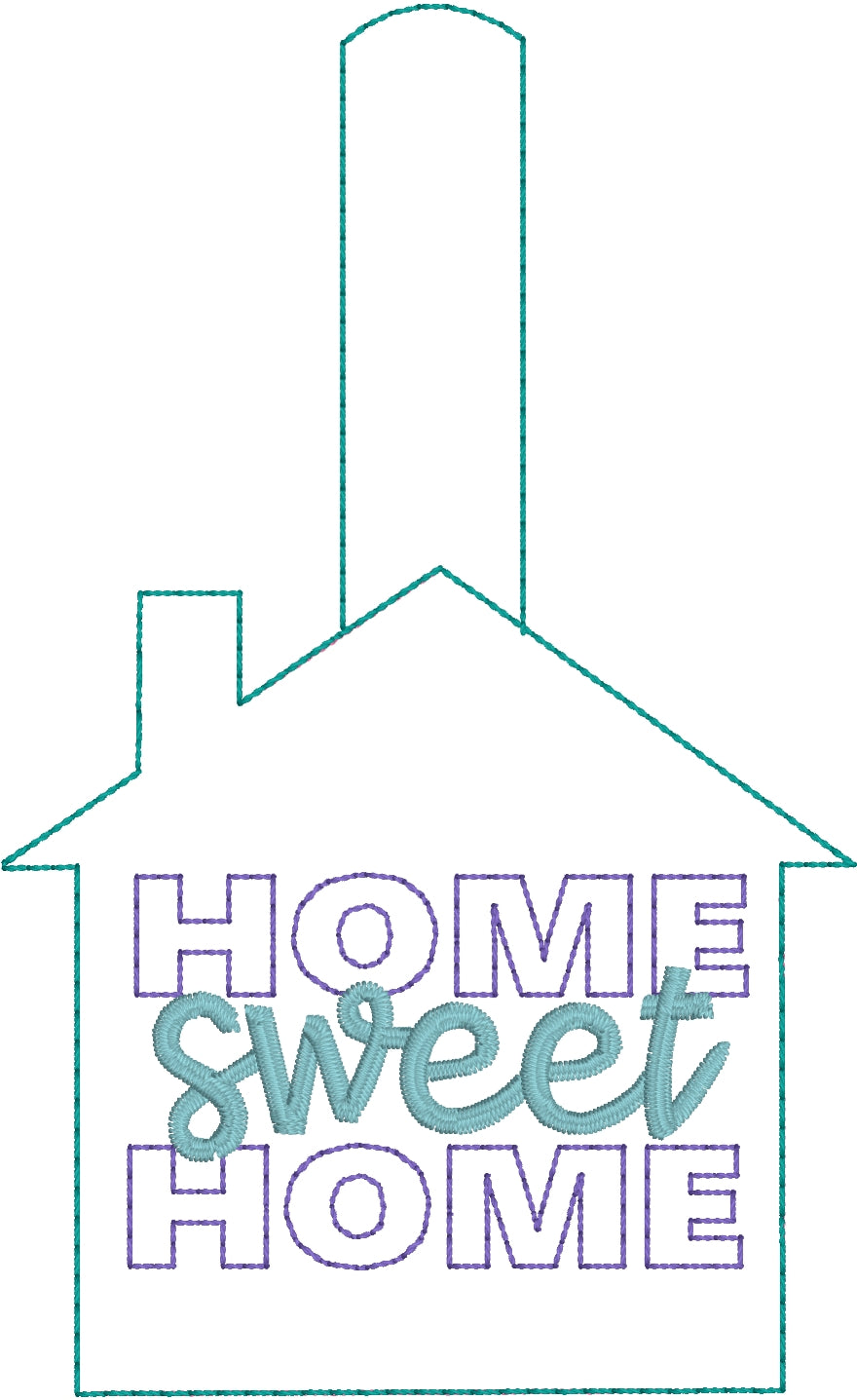 Home Sweet Home Snap Tab for 5x7 Hoops