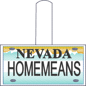 Nevada Plate Embroidery Snap Tab
