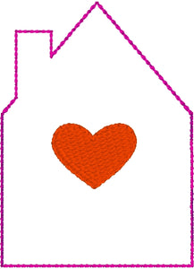 House and Heart Dangle Tag
