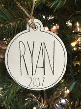 BLANK Ornament for 4x4 hoops
