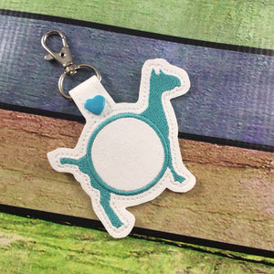 Monogram BLANK Goat tag snap tab for 4x4 hoops