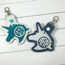 Monogram BLANK UNICORN snap tab for 4x4 hoops