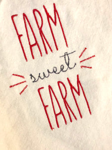 Farm Sweet Farm Kitchen Design  - Kitchen Towel or Potholder Embroidery Design