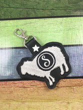 Monogram BLANK Sheep tag snap tab for 4x4 hoops