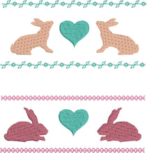 Bunny Borders Embroidery Design Set 4x4 and 5x7 sizes included