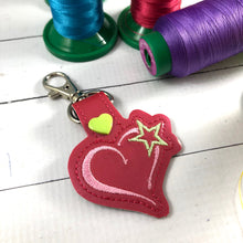 Valentines Day tag snap tab for 4x4 hoops