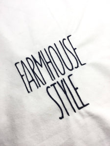Tall Skinny Farmhouse Style Embroidery font- 1 and a half inches high -Satin Stitch embroidery font for machine embroidery