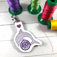Monogram BLANK Dolphin snap tab for 4x4 hoops