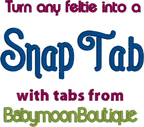 Snap Tab - DIY - Make your own snap tab design - three styles - turn feltie into snap tab