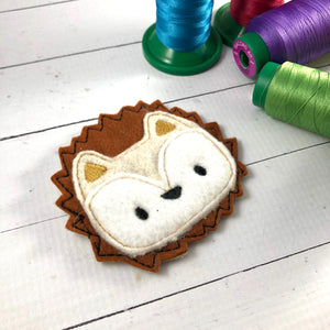 Hedgehog Patch Applique Feltie embroidery design