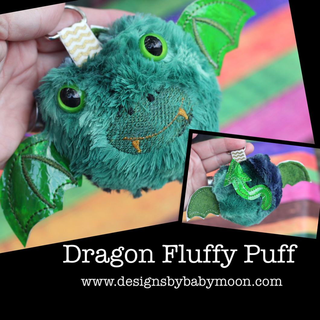 Dragon Fluffy Puff - In the Hoop Embroidery Design