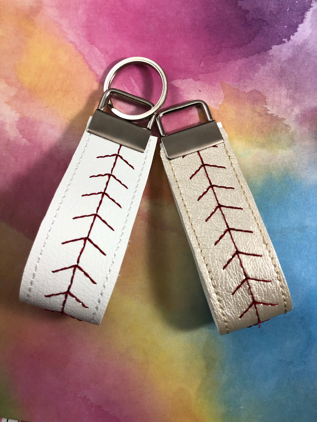 Baseball/Softball Stitching Wristlet Keyfob or Decorative Strap