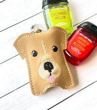 Doggie Hand Sanitizer Holder Snap Tab Version In the Hoop Embroidery Project 1 oz BBW for 5x7 hoops