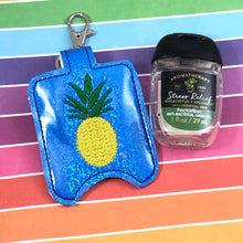 Pineapple Hand Sanitizer Holder Snap Tab Version In the Hoop Embroidery Project 1 oz BBW for 5x7 hoops