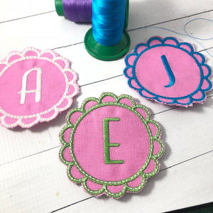 Frilly Flower Frame Applique Patch