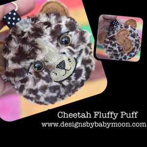 Cheetah Fluffy Puff - In the Hoop Embroidery Design