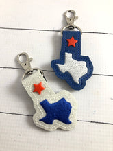 Tiny Texas snap tab In The Hoop embroidery design