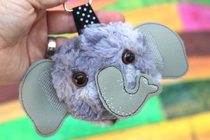 Elephant Fluffy Puff - In the Hoop Embroidery Design