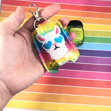 Llama Hand Sanitizer Holder Snap Tab Version In the Hoop Embroidery Project 1 oz BBW for 5x7 hoops