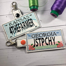 Georgia Plate Embroidery Snap Tab