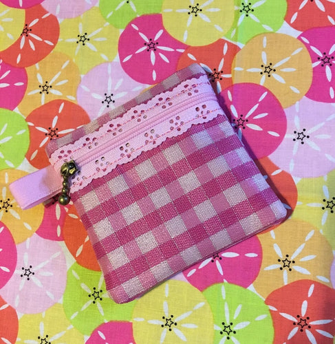 Lace Zipper BLANK Pouch 4x4