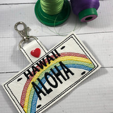 Hawaii Plate Embroidery Snap Tab