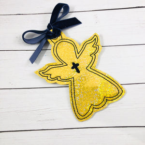 Cross Angel Christmas Ornament for 4x4 hoops