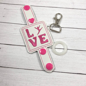 Gymnastics Dance Love Water Bottle Holder Double Snap Tab