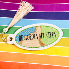 He Guides My Steps Bookmark or Keyfob Eyelet Tag SET
