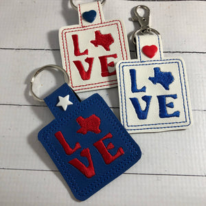 Texas Love Snap Tab 4x4 and 5x7