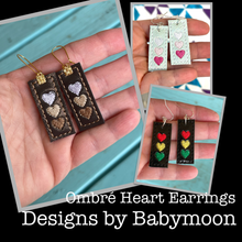 Ombre Heart Earrings embroidery design